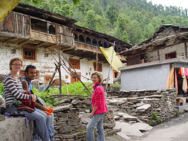 Spaziergang in «Old Manali».